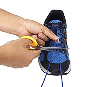 No Tie Shoelaces JZY Round Athletic Shoe Laces With Elastic Fits All Adult and Kids Shoes (Black)