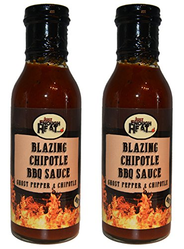 Blazing Chipotle BBQ Sauce - Ghost Pepper Chipotle Barbecue Sauce - Sweet, Smokey & Hot - 2 Pack by Just Enough Heat