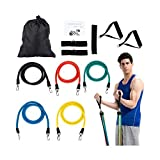 QSEKCH Resistance Bands Set Door Anchor Attachment For Exercise Bands-Ankle Straps For Weight Lifting Yoga Pilates Abs Exercise Stretch Fitness Gym