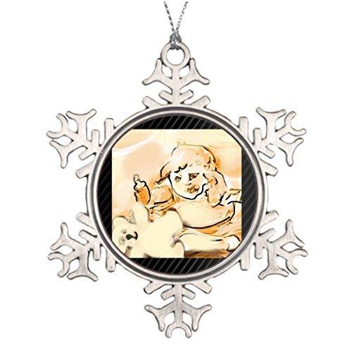 Venu67Hol Tree Branch Decoration sunriseteddyframed.png Children Halloween Snowflake Ornaments Tree -