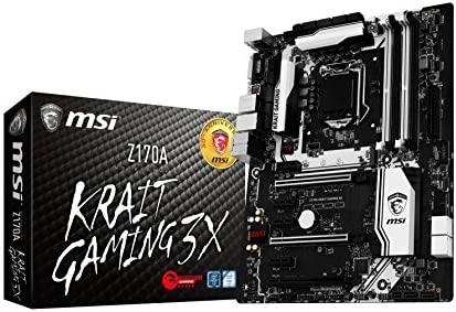 MSI Z170A Krait Gaming 3X LGA 1151 (Zócalo H4) Intel® Z170 ATX - Placa Base (DDR4-SDRAM, DIMM, Dual, 64 GB, Intel, Intel® Celeron®, Intel® Pentium®)