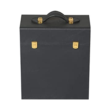 Magus Designs 3 Bottle Genuine Leather Case Crafted in Mastro Blue & Blue Suede Fabric Interior