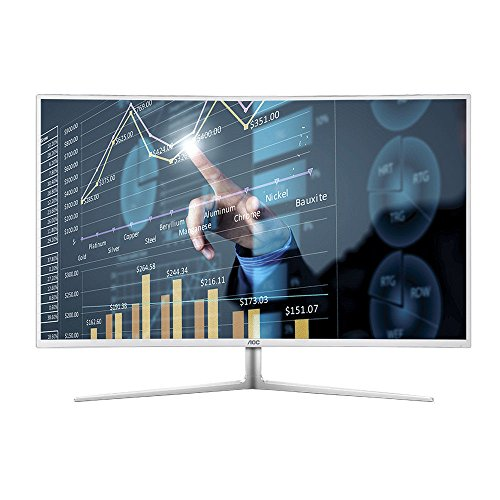 "AOC C4008VH8 40""Class Curved LED Monitor, VA Panel, Full HD, 300cd/m2, 5ms, VGA, DVI, (2) HDMI, Spk"