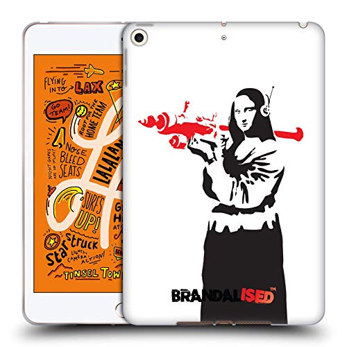Official Brandalised Mona Launcher Banksy Red and Black Street Art Soft Gel Case Compatible for iPad Mini (2019) (Best Tablet Launcher 2019)