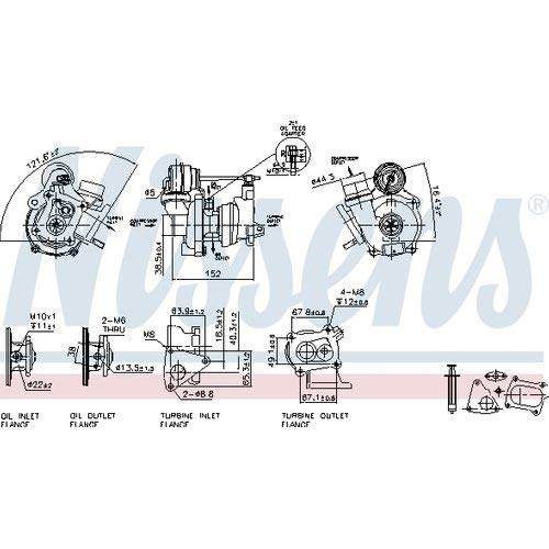 Nissens 93078 Turbo Charger: