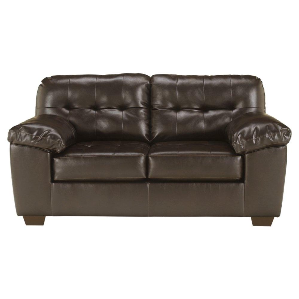 Amazon com ashley furniture signature design alliston durablend contemporary loveseat chocolate kitchen dining