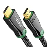 UGREEN HDMI Cable 4K HDMI 2.0 Cord Braided Support High Speed 18Gbps, HDR 4K 60Hz, Ethernet for Nintendo Switch, Xbox, PS3 PS4, Blu Ray DVD Player, Apple TV, Samsung LG HDTV, HP computer monitor (3ft)