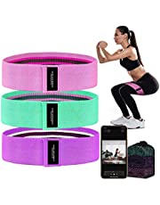 Booty Bands 3 Resistance Bands for Legs and Butt Exercise Bands Fitness Bands - Resistance Loops Hip Thigh Glute Bands Non Slip Fabric - Elastic Strength Squat Band, Workout Beginner to Professional