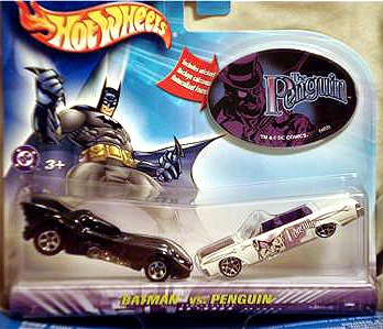 Hot Wheels Batman Vs. Penguin 2 Pack 1:64 Scale Die Cast Cars (Penguin Man From Batman)