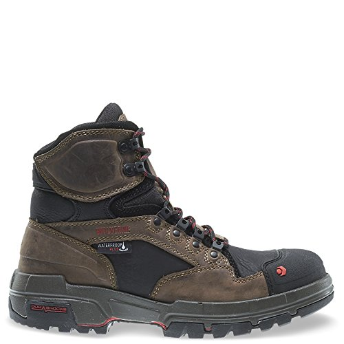 Boot Waterproof Durashock - Wolverine Men's Legend 6 Inch Waterproof Comp Toe-M Work Boot, Dark Brown, 11 M US