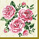 Dining Collection Decorative Paper Lunch Napkins - Trio of Roses
