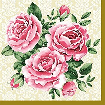 Decorative Trio (Dining Collection Decorative Paper Lunch Napkins - Trio of Roses)