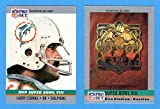 1990 Pro Set Football (Super Bowl #8) **** (2) Card Lot featuring Super Bowl MVP Larry Csonka and Super Bowl Program Cover (Dolphins) (Vikings)