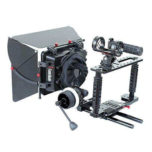 CAMTREE Professional KIT-100 Fort Camera Cage Rig Kit with Matte Box & Follow Focus for DSLR Video Camcorders | FREE Mic Suspension & Storage Bag (C-Kit-100) by Camtree