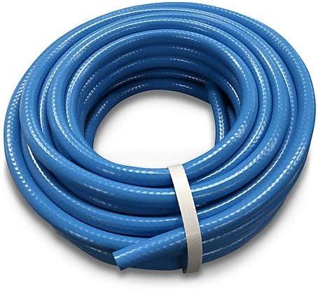 Maximum Pressure: 6bar Flexible Colour Description: Blue Weight 1.57kg Material: Polyvinyl Chloride 15 m L Hose Length 15m Braided Hose Diameter 12.5mm Handle Type: Soft Touch Anti Twist