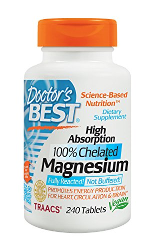 Doctors Best High Absorption Magnesium (200 Mg Elemental) 240-Count