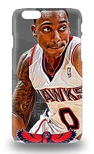 Waterdrop Snap On NBA Atlanta Hawks Jeff Teague #0 3D PC Case For Iphone 6 ( Custom Picture iPhone 6, iPhone 6 PLUS, iPhone 5, iPhone 5S, iPhone 5C, iPhone 4, iPhone 4S,Galaxy S6,Galaxy S5,Galaxy S4,Galaxy S3,Note 3,iPad Mini-Mini 2,iPad Air )