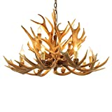 Lovedima Rustic Style Resin Antler Whitetail Branch 2-Tier 12 Candle Light Large Cascade Chandelier For Sale