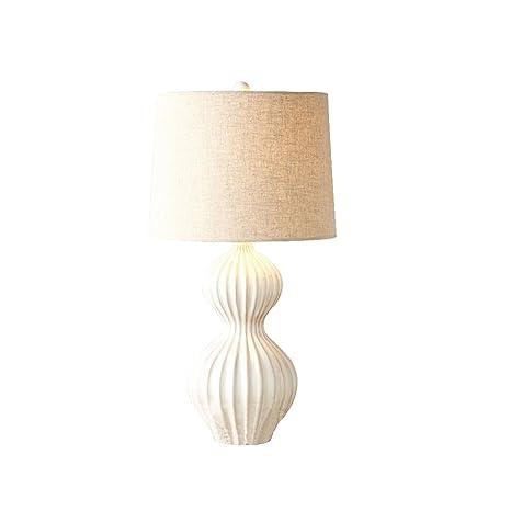 LI XIN SHOP Lámpara de Mesa American Blanco cerámica Rayado ...