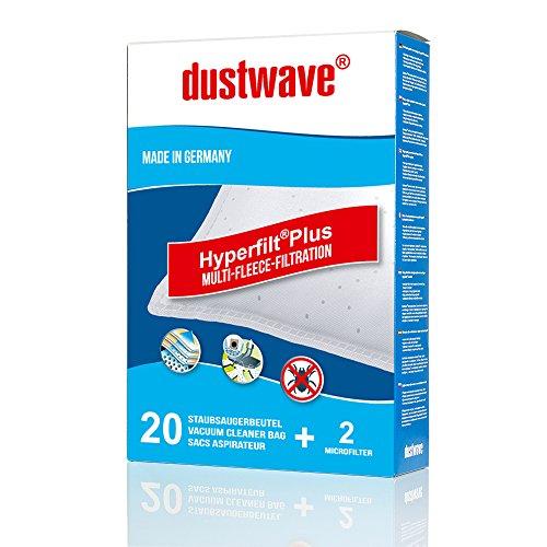 Megapack - 20 Staubfilterbeutel geeignet für Siemens - VSQ8SEN72C powerSensor Q8.0 Staubsauger - dustwave® Markenstaubbeutel / Made in Germany + inkl. Microfilter