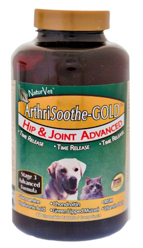 NaturVet ArthriSoothe-GOLD Tablets, 40-Count, My Pet Supplies