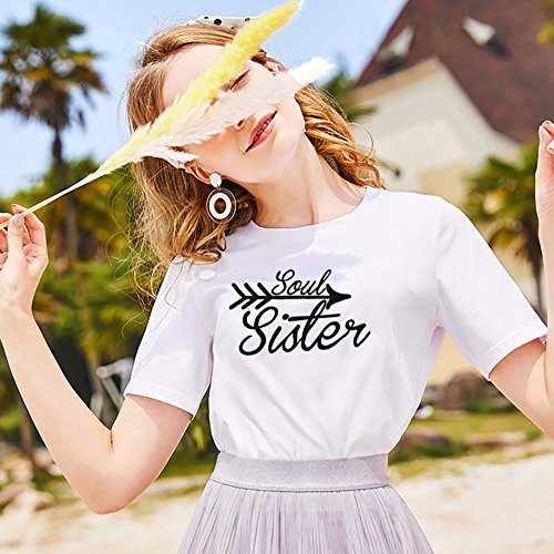 ... Geburtstagsgeschenk JWBBU Best Friends t-Shirts für Zwei Damen Beste  Freundin Mädchen Shirt BFF Freundschaft Geburtstagsgeschenk ... febf5bcfd6