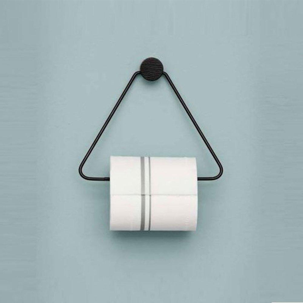 Einfache wc-papierrolle storer ohne bohren, Wand-absaugung Gewebe-halter-schwarz QWQREER