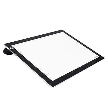 Huion A3 Caja de luz para Calcar 23.62 Pulgadas de Light Pad con Clip de Papel y Papel de calco para Mesas de luz para Calcar