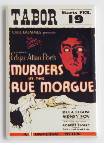 Murders in the Rue Morgue Movie Poster Fridge Magnet (2 x 3 inches)]()