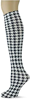 product image for Sox Trot HOUNDSTOOTH/WHITE - Printed Nylon Knee-Hi's