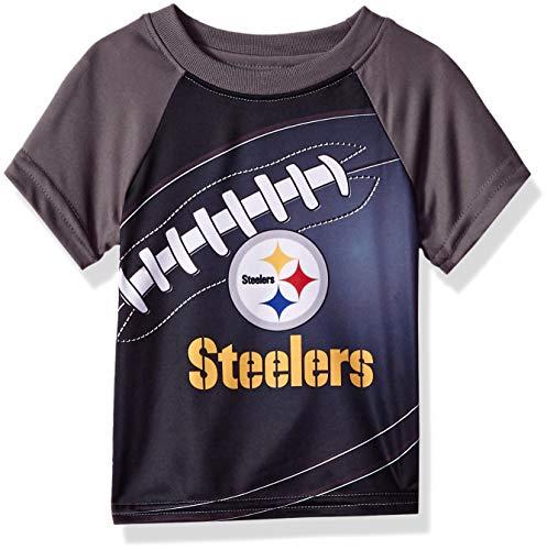 NFL Pittsburgh Steelers Unisex Short-Sleeve Tee, Black, 4T