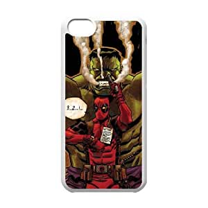5c caso Deadpool vs Hulk funda iPhone S2W85E7QN funda 48M3GK blanco