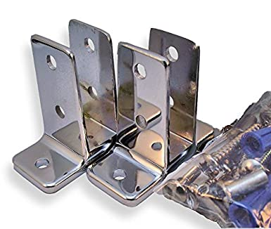 Chrome Plated Zamac Toilet Partition Angle Bracket Pak Includes - Bathroom partition brackets