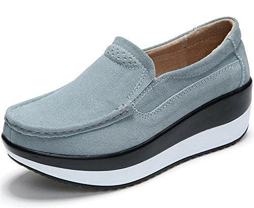 WUIWUIYU ウォーキングシューズ レディース スニーカー 厚底靴 美脚 軽量 歩くやすい 履き心地抜群 通勤靴