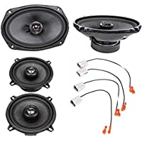 2002-2008 Dodge Ram 1500 Complete Front Door and Rear Door Factory Speaker Upgrade Package by Skar Audio