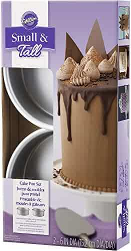 Wilton 2105-5636 2 Piece Small & Tall Layered Cake Pan Set