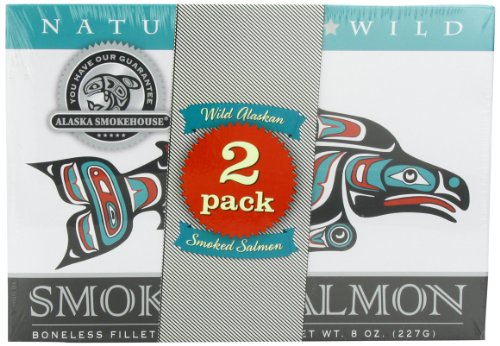 Alaska Smokehouse Smoked Salmon Duo Original, Sockeye, 16 Ounce