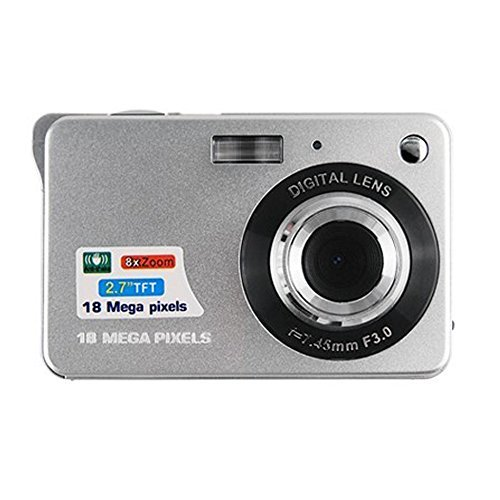 Mini Digital Camera,CamKing CDC3 2.7 inch TFT LCD HD Digital Camera (Silver)