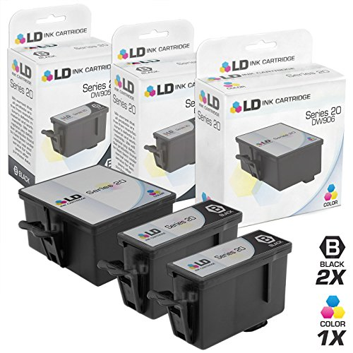 LD Compatible Ink Cartridge Replacement for Dell Photo P703W Series 20 (2 Black, 1 Color, 3-Pack)