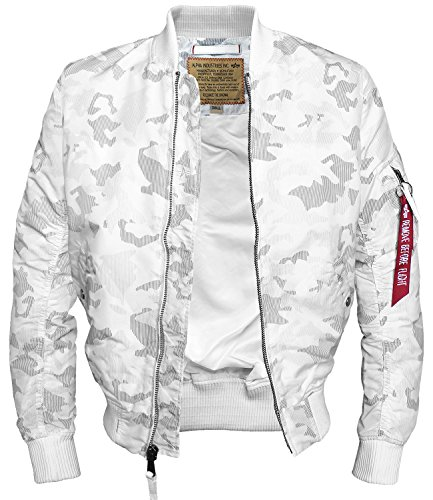 Blouson effet Alpha Camouflage Blanc Homme qxX6H0U