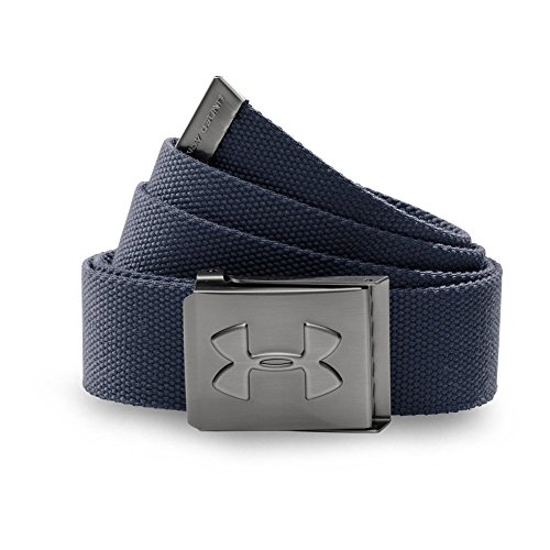 Under Armour Men's Webbed Belt, Academy/Graphite, One - Clothing Accessories Web Belts