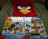 GREAT DEAL for ALL ANGRY BIRDS fans!!!2 Board Games/ Knock on Wood/ ON Thin Ice/ ALSO a 10 x 15 Inch Angry Bird Backpack!!!