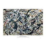 Jackson Pollock (Silver on Black) Art Poster Print - 24x36