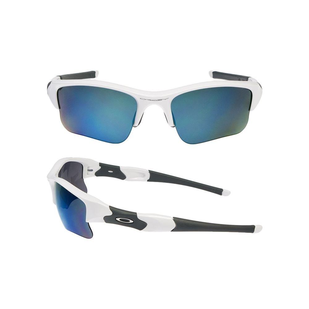 Amazon.com  Oakley Flak Jacket XLJ Men s Sunglasses - Polished White w  Ice  Iridium Lens  Clothing d6a4a50fb2