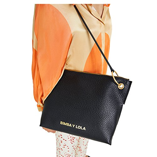 Bimba y Lola Donna Trapezium leather crossbody bag 181BBGG1F Última Línea Barata l4JAUh