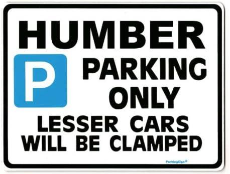 HUMBER Car Parking Sign Size Large 205 x 270mm Gift for hawk SCEPTRE SUPER SNIPE models