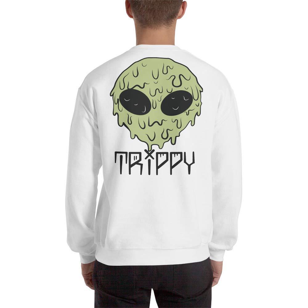 Melting Trippy Alien Graphic Unisex Heavy Blend Crewneck Sweatshirt Done by Dom