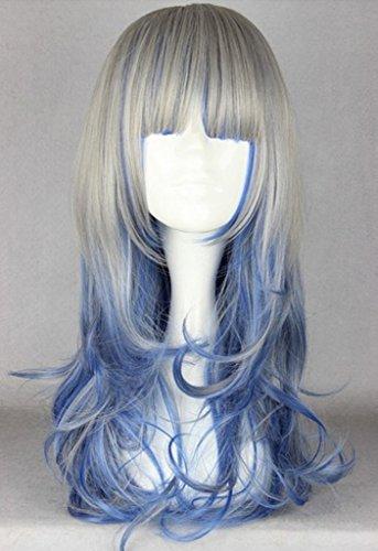 light blue and dark blue wig - 6