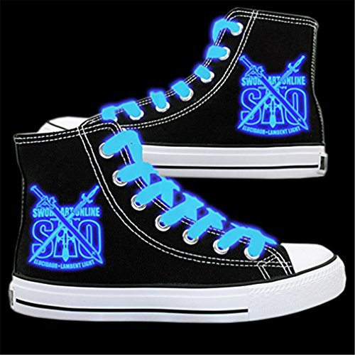 Bromeo Sword Art Online Unisexo Hola-Top Zapatillas de lona Trainers Zapatos Luminoso Shoes