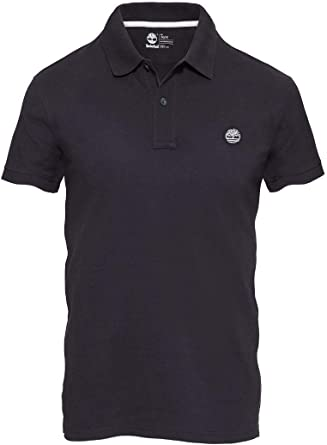 Timberland SS Slim Millers River Hombres Slim Black Polo Fit ...
